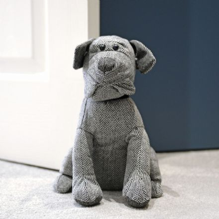 Luxury Terrier Dog Padded Doorstop
